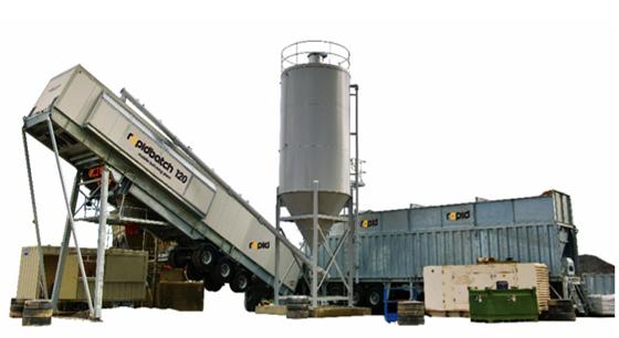RAPIDBATCH mobilā betona ražošanas rūpnīca